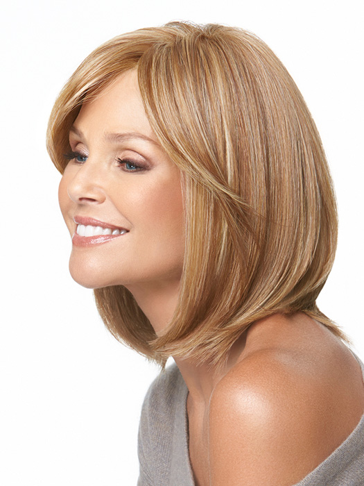 Monofilament part creates the appearance of natural hair growth where the hair is parted.