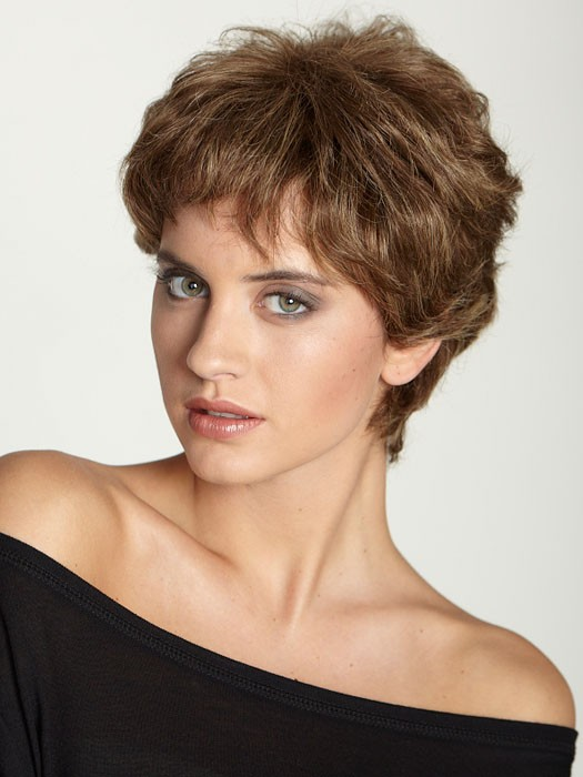 Aspen HH (Human Hair) Rose Wig | Short Pixie Cut