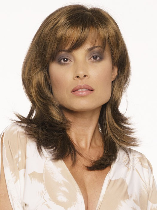 Nadia by Envy Wigs : Monofilament Part | Color LIGHT BROWN