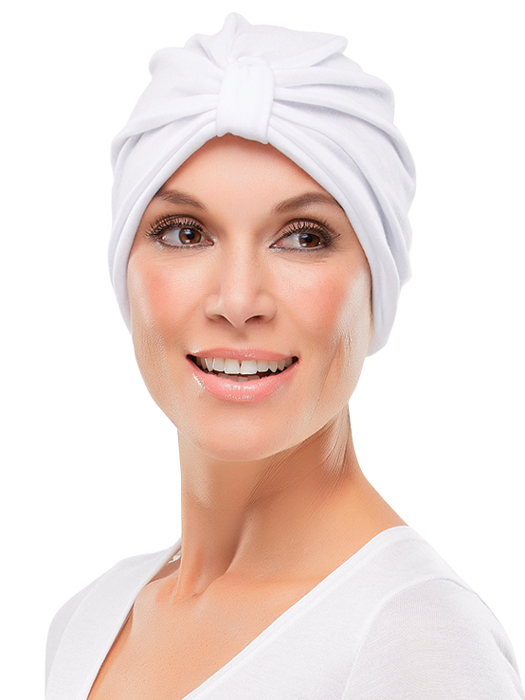 Poly Cotton Turban by Jon Renau | Color: White