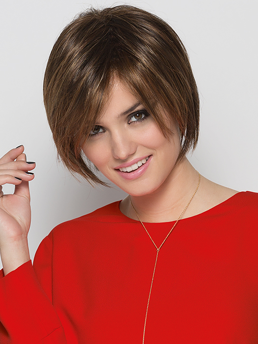 A sophisticated, chin-length bob | Color: Tobacco-Rooted