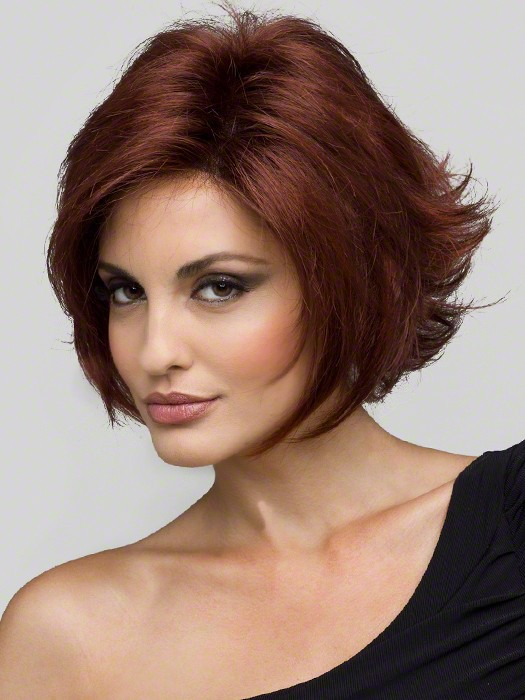 Envy Wigs Angie Wig : Color Dark Red (33 base with color 32 highlights - dark auburn with brighter red highlights)