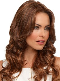 Brianna Wig Envy Wigs : Color Chocolate-Caramel (Medium brown with soft red lo-lights and blonde highlights)