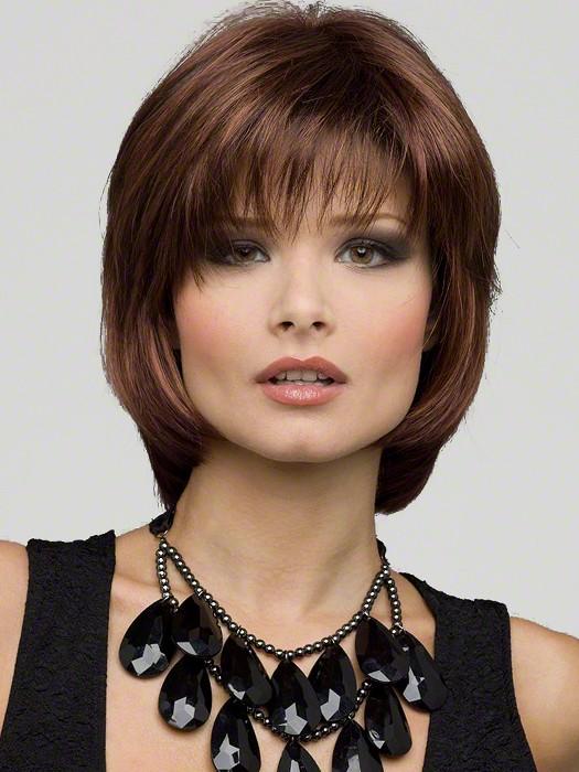 Envy Wigs Haley Wig : Color Cinnamon-Raisin (Medium brown with auburn lo-lights and cinnamon highlights)