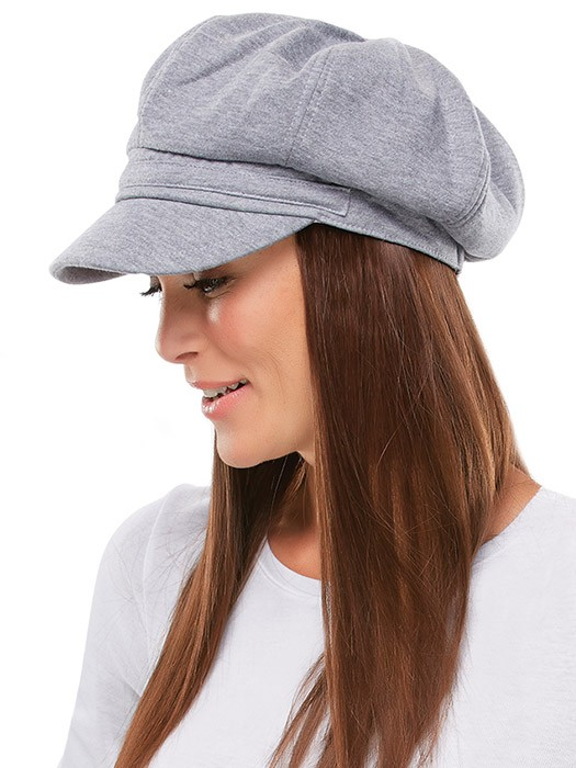Fleece Newsboy Cap by Jon Renau | Color Heather Grey