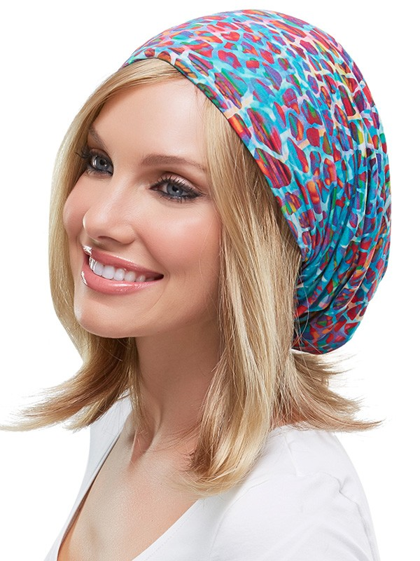 The Softie Boho Beanie Print | Color: Bright Animal