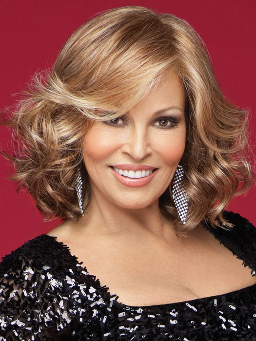 Celebrity by Raquel Welch: Color R29S+ Glazed STRAWBERRY (Light Red With Golden Blonde Highlights)
