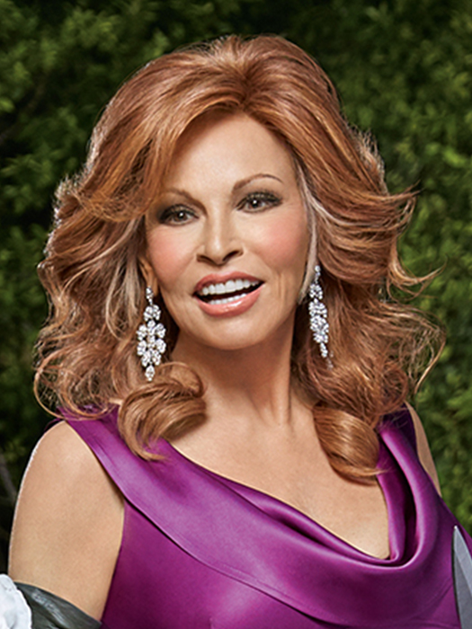 The Good Life by Raquel Welch is a 100% Remy human hair, below-the-shoulder wig | R3025S+ Glazed Cinnamon