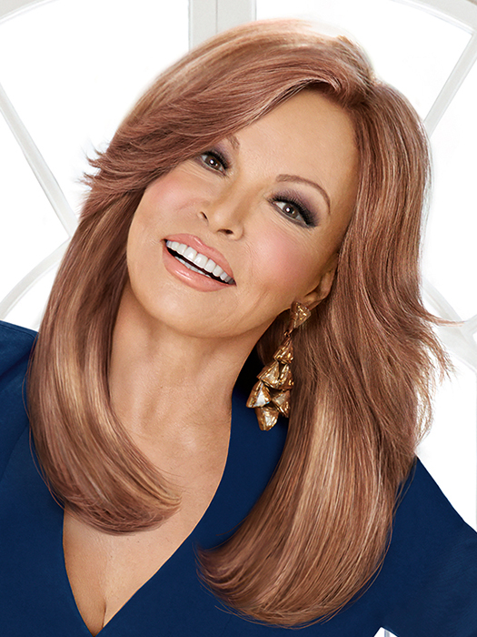 High Fashion by Raquel Welch is a long, 100% Remy human hair wig  | Color: R3025S+ Glazed Cinnamon