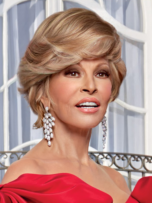Hollywood & Divine by Raquel Welch is a below-the-collar wig with all over, precision tapered layers | Color: R29S+ Glazed Strawberry