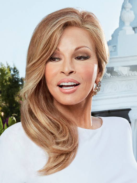 Provocateur by Raquel Welch is a long, 100% Remy human hair wig | Color: R29s+ Glazed Strawberry