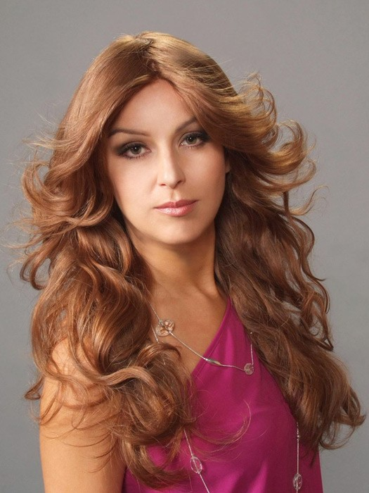 Liz B Human Hair by Wig Pro | Color: Camel Brown