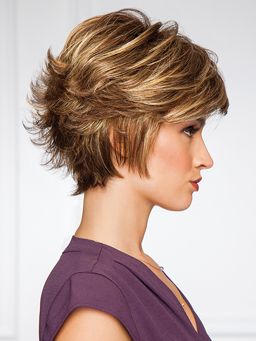 A short cut with a boost of added personality | Color: G811+ Mahogany Mist