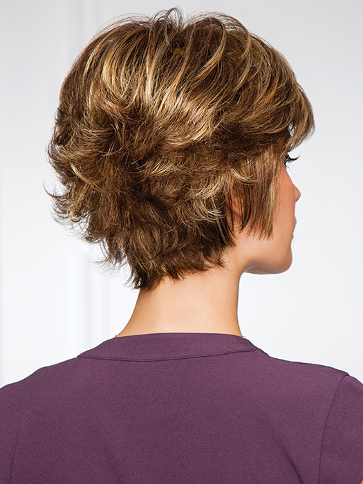Fullness on top and short, textured sides | Color: G811+ Mahogany Mist