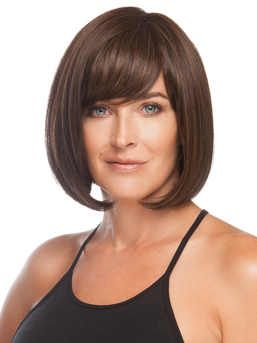 Wear the bang off to the side or have your stylist customize it for you. Color Medium Brown
