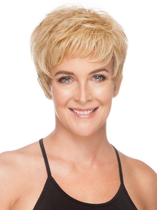 Wear the short layers messy or smooth. We used the Shaping Cream by BeautiMark to define the texture. Color Medium Blonde