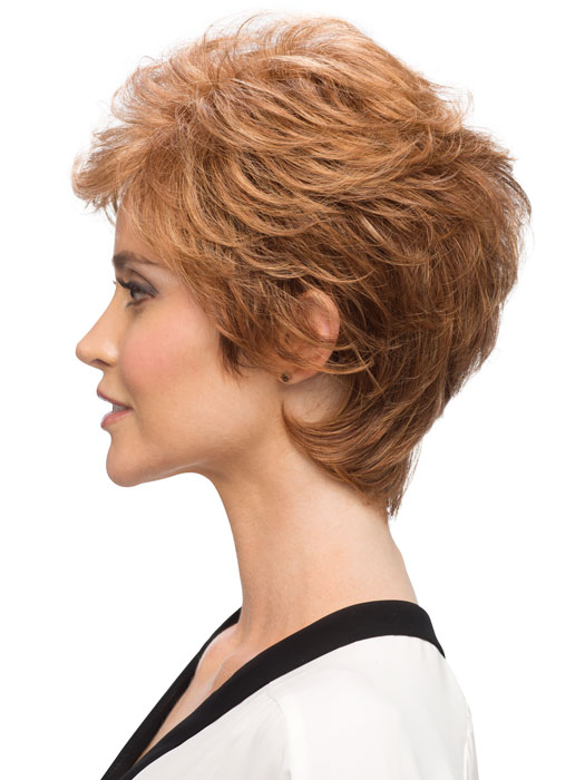 Estetica Designs Amber Wigs : Profile View | Color R30/28/26