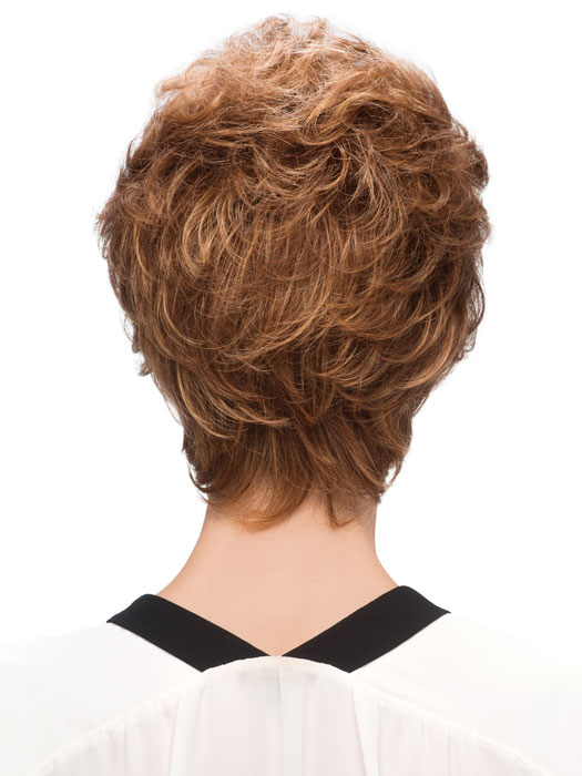 Estetica Designs Amber Wigs : Back View | Color R30/28/26
