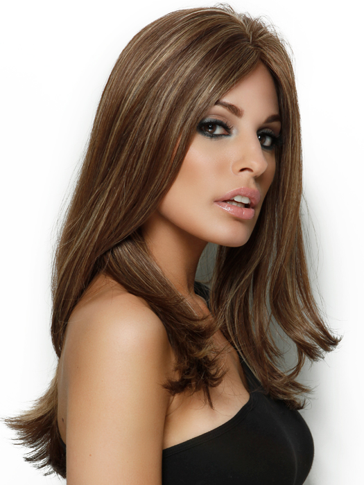 Estetica Angelina Wig : Side View | Color R8/26H