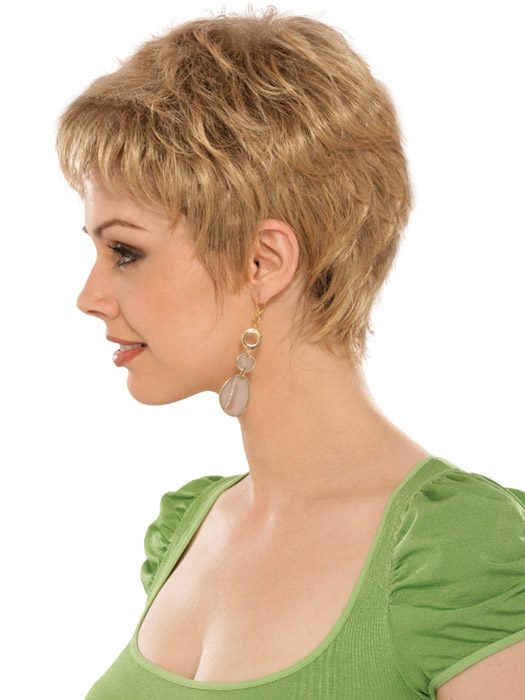 Estetica Designs Wigs Casey Wig : Profile View | Color R24/18BT