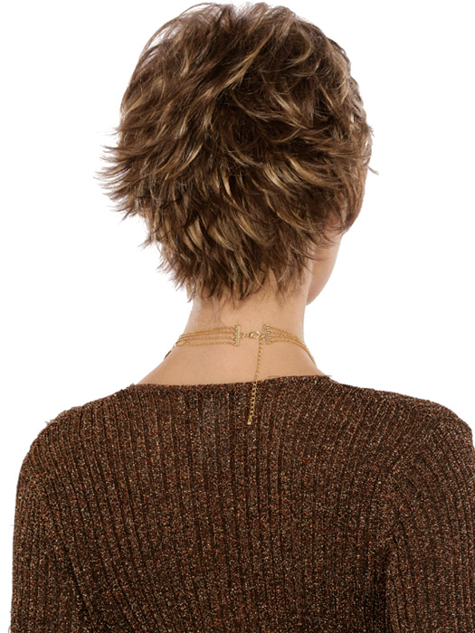 Estetica Designs Heidi Wig : Back View | Color CARAMELKISS