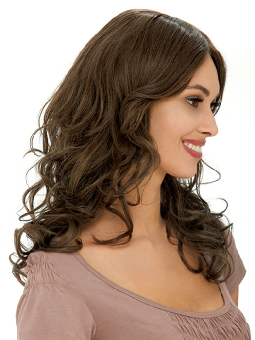 Estetica Designs Isable Wig : 100% Remi   Side View   Color R8
