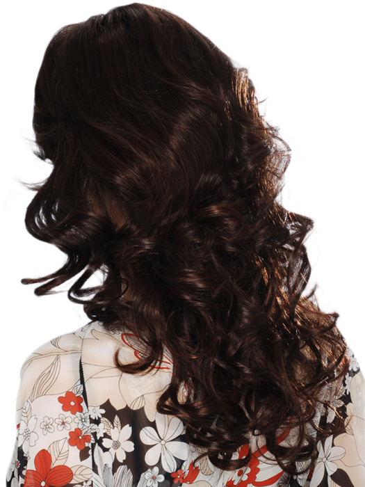 Estetica Designs Isabel Human Hair : Back View | Color R4/33H