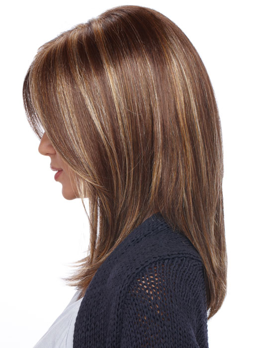 Estetica Jewel Wig : Profile View | Color CARAMELKISS