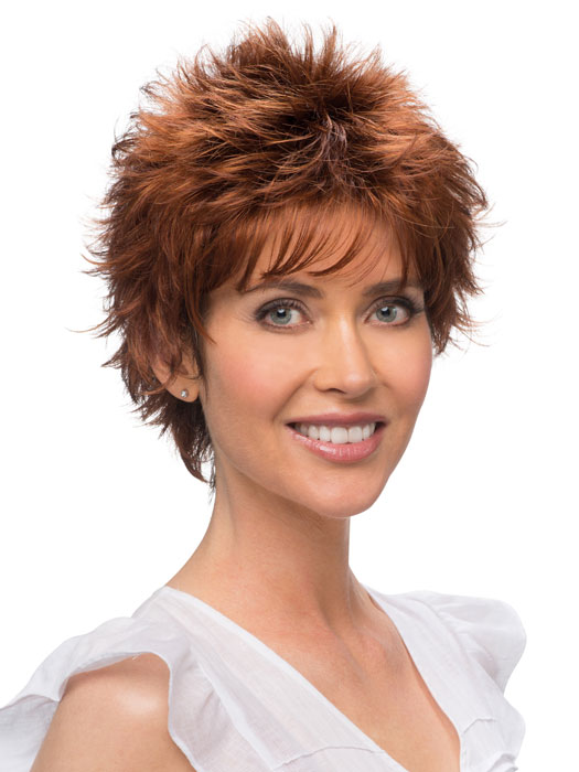 ... | Capless Short Razor Cut with Bangs | Wigs.com - The Wig Experts