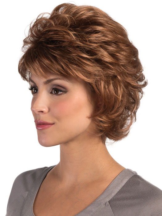 Estetica Shelby Wig : Side View | Color R30/28/26