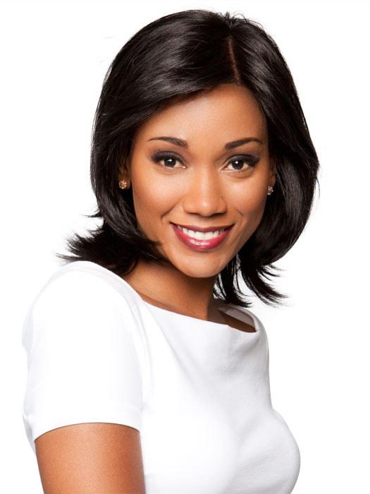 The lace front allows off the face styling | Color: Black