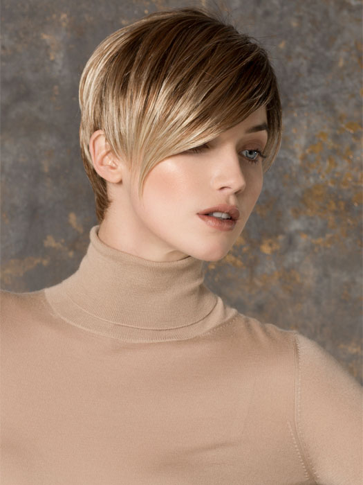 This short wig features a Monofilament Part