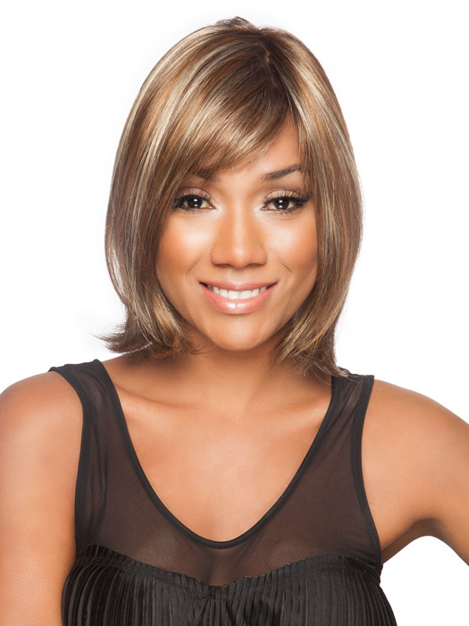 Wear the bang to the side or have it cut to go straight across | Color: Tobacco Rooted