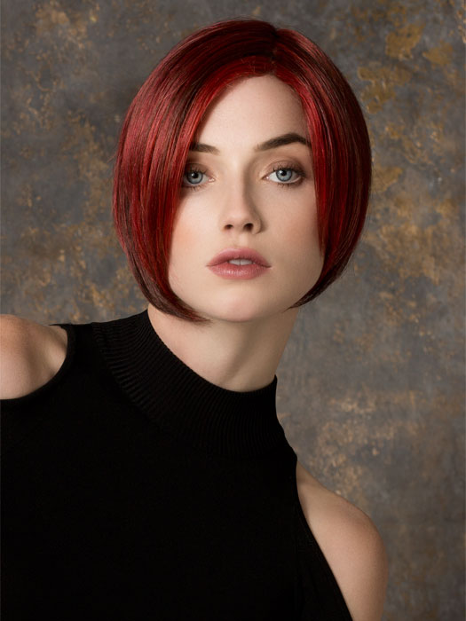 Features Lace Front and Hand-Tied, Monofilament Part | Color: Hot Flame Mix