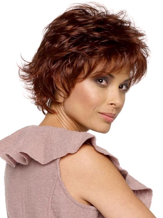 Envy Alyssa Wig : Profile View | Color DARK RED