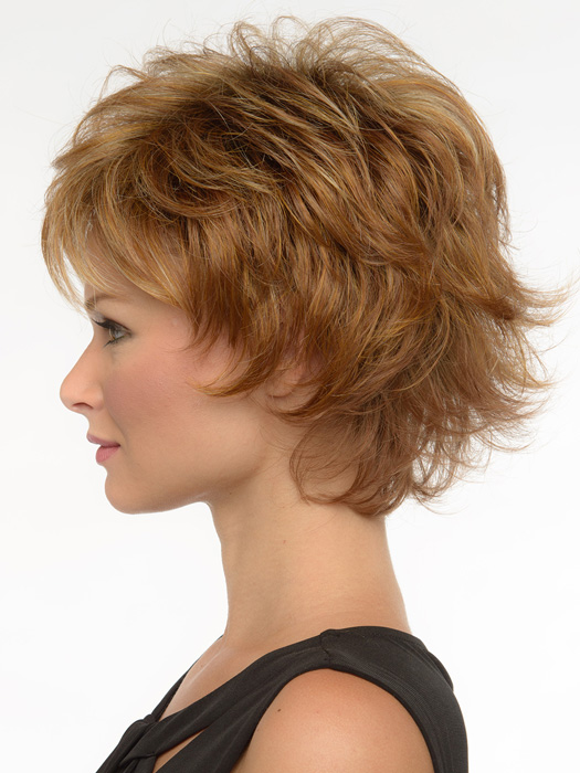 Wispy texure all over for an edgy and sophisticated look.  | Color: Golden Nutmeg