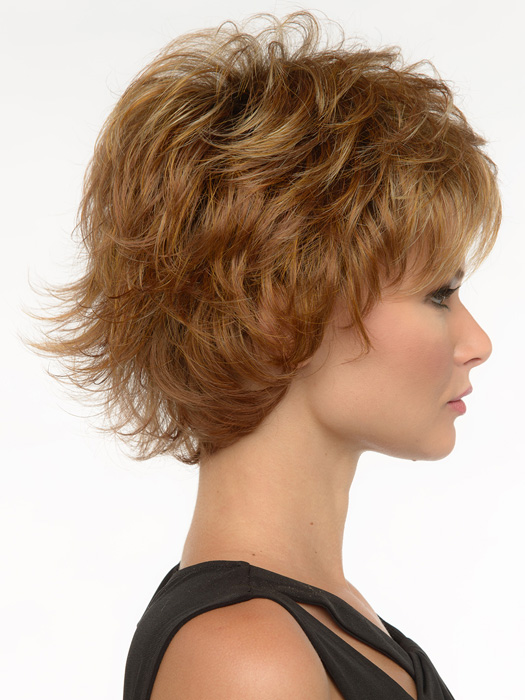 Tuck hairs behind ear for a softer sleeker look.  | Color: Golden Nutmeg