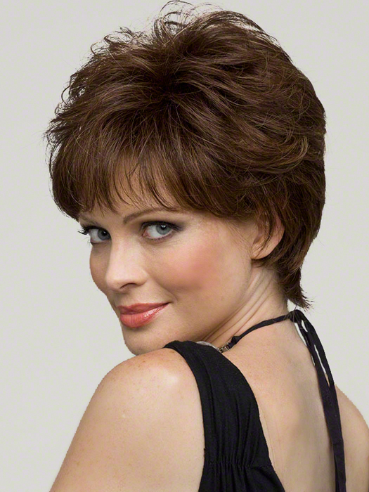 Aubrey by Envy Wigs : Monofilament Top | Color MEDIUM BROWN