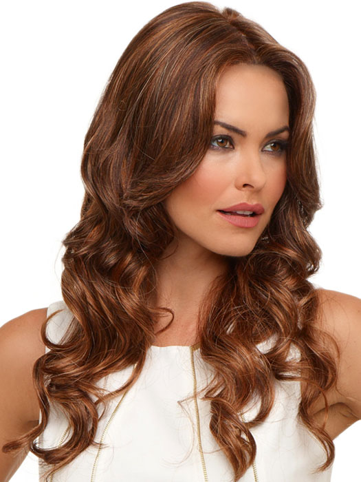Brianna by Envy: Color Chocolate-Caramel (Medium brown with soft red lo-lights and blonde highlights)