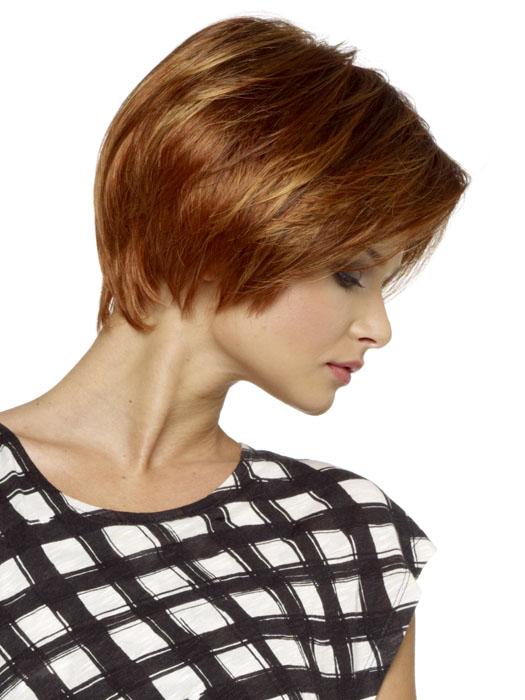 Envy Denise Wig : Side View   Color LIGHT RED