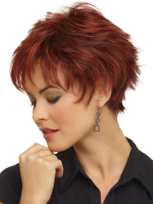 Envy Genny Wig : Short Pixie Cut | Color Dark Red