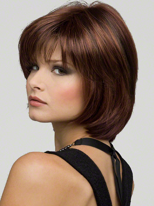 Haley by Envy Wigs : Monofilament Top | Color Cinnamon-Raisin