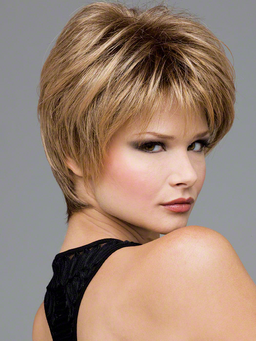 Short Layered Hair with Frosted Tips