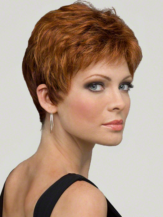 Envy Jeannie Wig : Right Profile | Color LIGHTER RED
