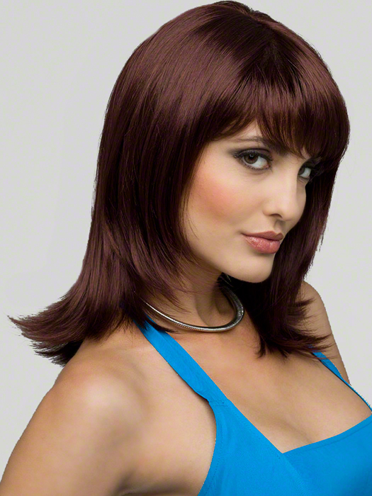 Envy Jess Wig : Monofilament Top | Color DARK BROWN