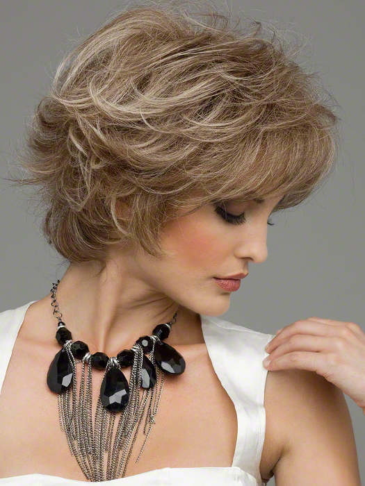 Kylie by Envy Wigs : 100% Hand-tied Sides   Color ALMOND BREEZE