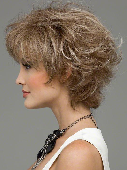 Envy Kylie Wig : Left Profile   Color ALMOND BREEZE