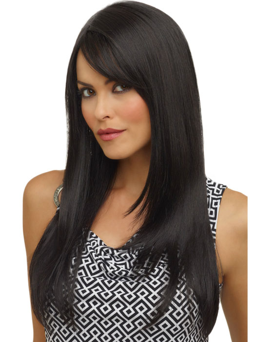 Envy Wigs McKenzie Wig : Monofilament Part | Color BLACK