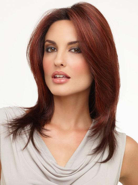 Envy Wigs Roxie Wig : Color DARK RED