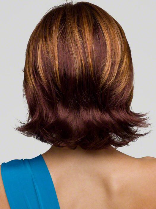 Envy Taylor Wig : Back View | Color : CINNAMON RAISIN